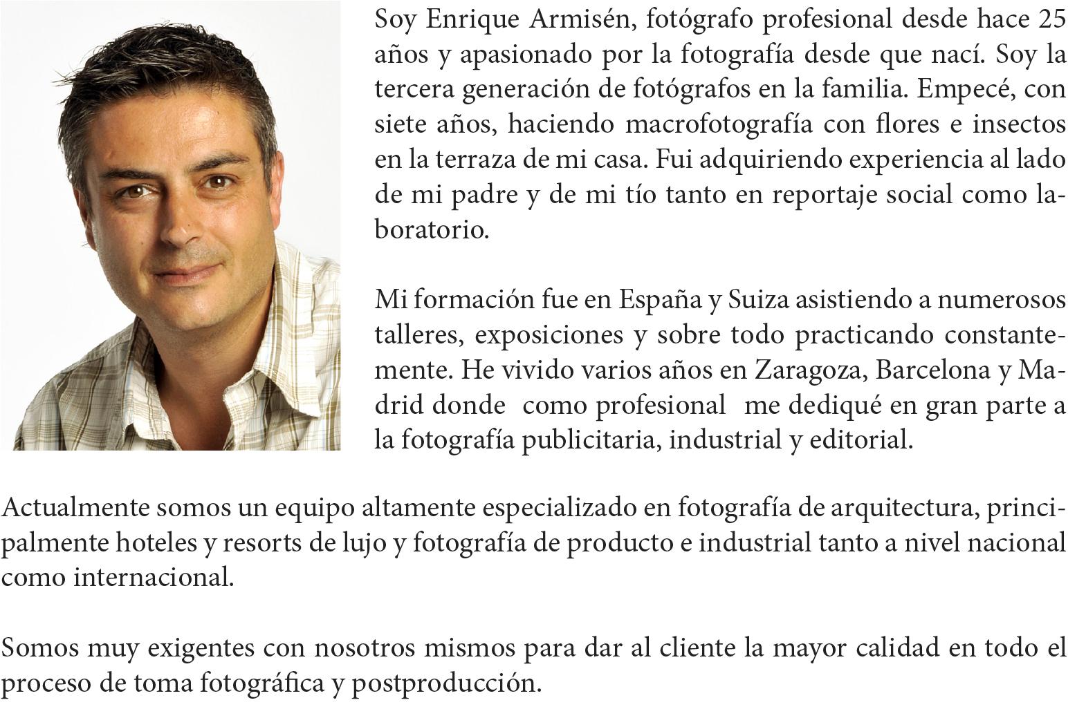 sobre mí, Enrique Armisén
